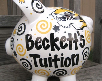 Large-Personalized Piggy Bank-College Fund