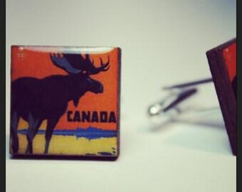 Vintage Canadian Moose Cufflinks