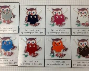 Owl Necklaces - Laser Cut Acrylic