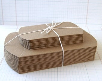 20 Pillow Box Variety Pack . 10 Medium and 10 Small Boxes for Treats, Packaging & Gift Wrap