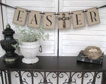 Easter Decoration - rustic elegance - Easter decor, spring banner, Easter banner, home decor, spring