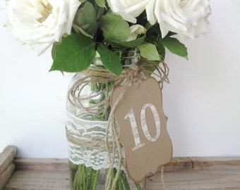 Table Numbers - 1 - 10 wedding table numbers - cream sheet music numbers - pick other colors - wedding decor - vintage wedding,