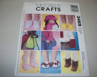 "New McCall's 18"" Doll Accessories Pattern, 3469 (Free US Shipping)"
