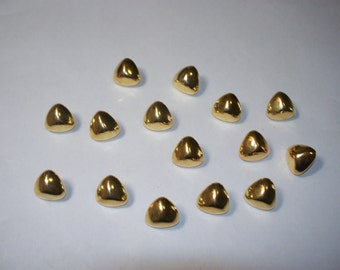 15 Gold Colored, Shank Buttons, Lot 2326  (Free US Shipping)