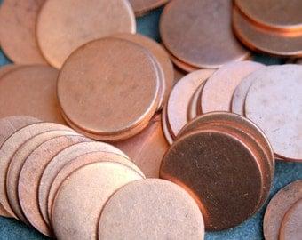 20 copper disks 9/16 COPPER