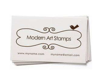 Business Card Stamp   Custom Rubber Stamp   Custom Stamp   Personalized Stamp   Bookplate Stamp   Bird Stamp   BC13