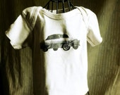 Tea Dyed Boys Shirt with Vintage Style Transfer