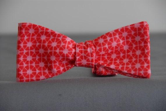 Geometric Guava Bow Tie