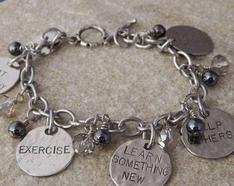 New Year Resolution Charm Bracelet