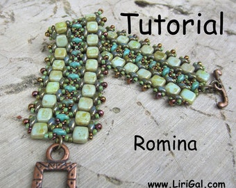 Tutorial Romina SuperDuo and Tile Beadwork Bracelet PDF