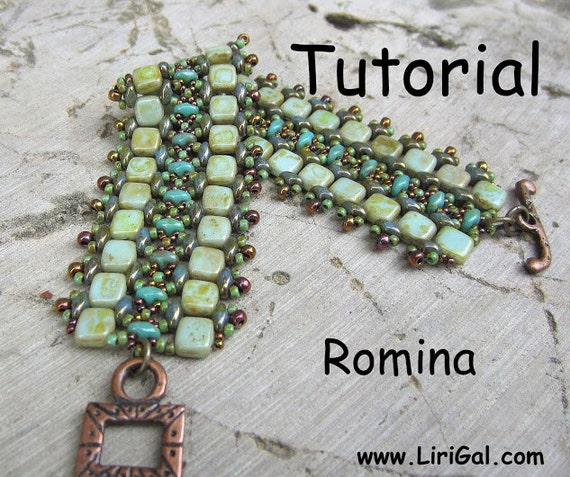 Tutorial Romina SuperDuo and Tila Beadwork Bracelet PDF