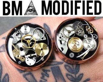 BMA Modified Junkyard Steampunk Watch Parts Plugs 3/4 inch 19mm