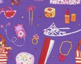 Play Date Playdate Girly Girl Tiara Accessories Makeup and More Dear Stella Fabrics - 1 yard