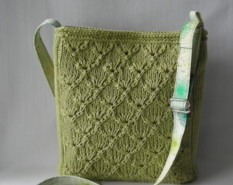 Hipster Purse and Tote - Knitting Pattern PDF - Espalier Bags -  French inspired handbag shoulder bag - includes lining tutorial