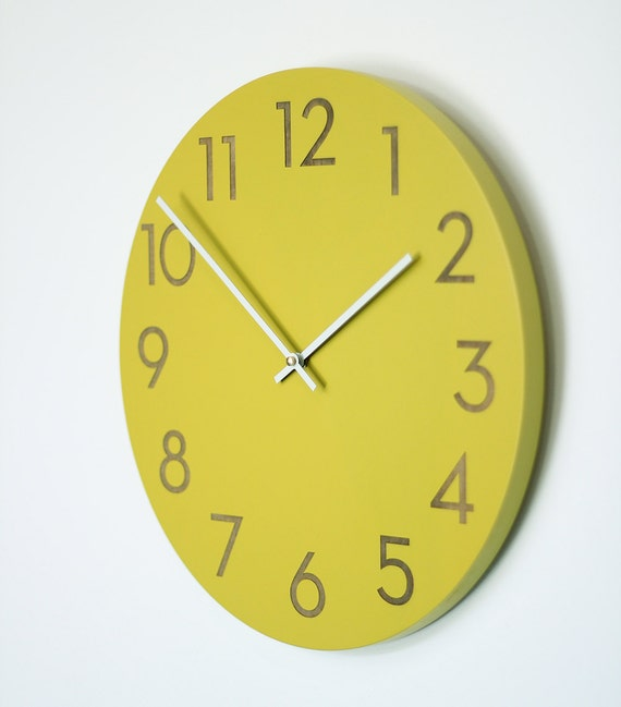 14 inch large modern wall clock by uncommon on etsy