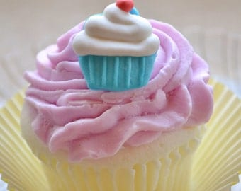 Cupcake Soap - With a Cupcake on Top Soap - Dessert Soap - Birthday - Kids Soap - Fun Soap - Realistic Fake Food - Novelty Gift