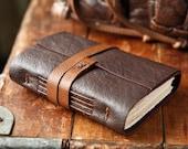 Leather Journal - The Traveler - Brown Handmade Travel Journal