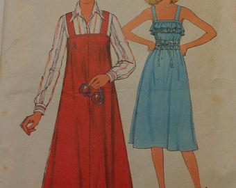 1970s Sun Dress or Jumper Size 16 Simplicity 8073