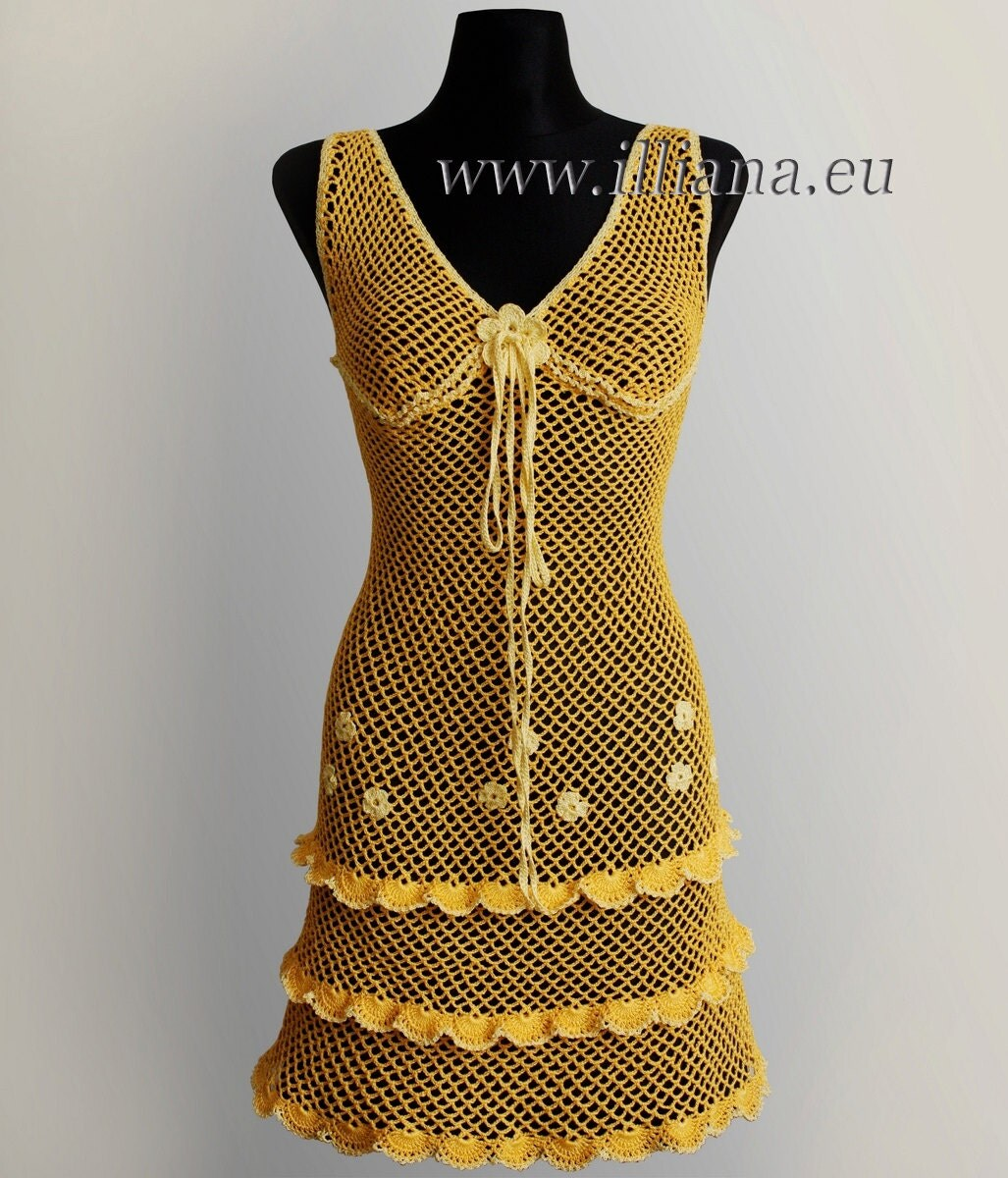 Crochet Xxl Patterns : Crochet Pattern . Dress No 232. Sizes S to XXL