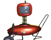 80s TV  Futuristic Style TV  / Portable TV / Prop / PiCk uP OnLy