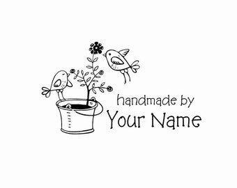 Handle Mounted Personalized custom made rubber stamps H16