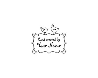 Personalized unmounted cling custom made rubber stamp C31