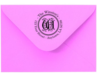 Personalized Custom Made Return Address and Name Rubber Stamps R63
