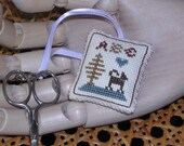 A,B,C, Little Cross Stitch Scissor Fob