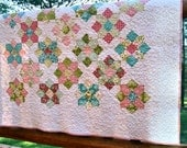 Quilt Scrappy HANDMADE Hello Luscious Fabric Lap Throw Easter