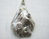 Sterling Silver Art Nouveau Statement Necklace