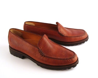 Cole Haan Loafers Brown Vintage 1990s Country Leather Shoes Women's size 10 AA