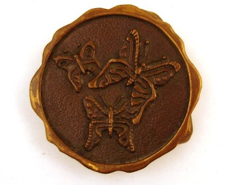 Belt Buckle Vintage 1976 Butterflies