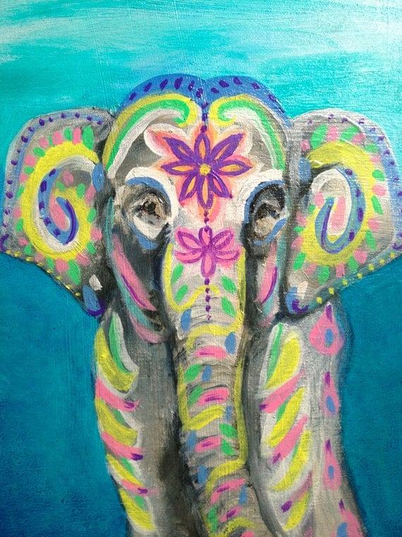 Indian Elephant Original Oil Painting