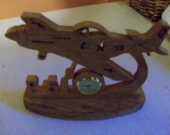 P-51 Mustang wooden miniature desk clock