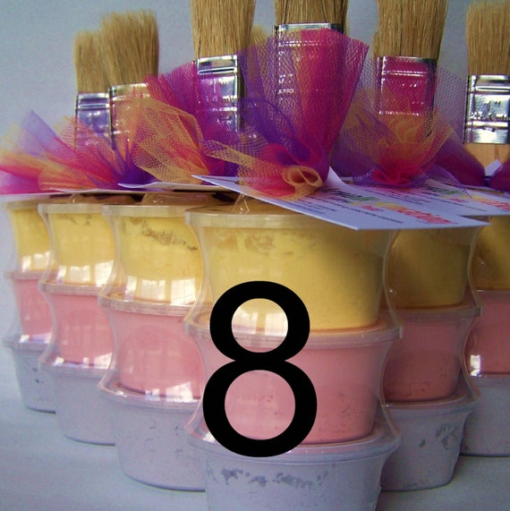 Sidewalk Paint Mini-Stack Party Favors -Set of 8 - Princess Colors (pink, purple, yellow)