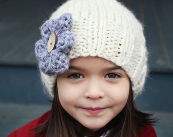 Slouchy Hat Knitting Pattern, PDF Knitting Pattern, Easy Knit Hat Pattern, Slouchy Hat Pattern for Girl, Child to Adult sizes - AVA