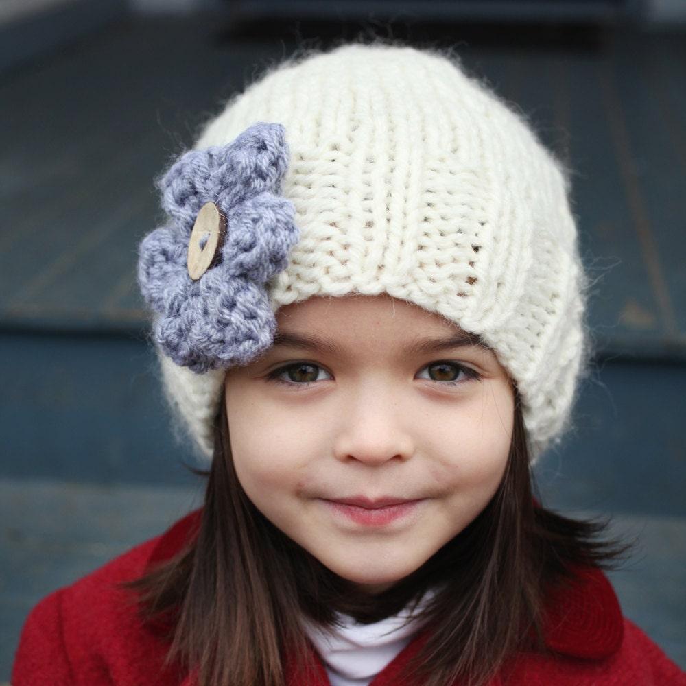 Knitting Pattern Hat Flat : Slouchy Hat Knitting Pattern PDF Knitting Pattern Easy Knit