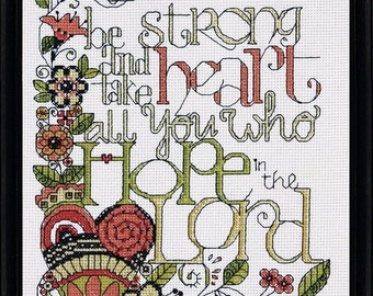 Design Works - Be Strong, Counted Cross Stitch Kit, NEW
