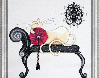 Design Works - Chandelier Cat, Counted Cross Stitch Kit, NEW