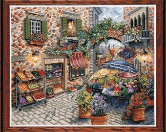 Design Works - Sidewalk Cafe 2735, Counted Cross Stitch Kit