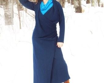 Narnia Wrap Coat - Hemp Organic Cotton Fleece