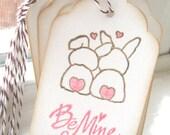 Be Mine Bunny Valentine Gift Tags, Bunny Valentines, Childrens Valentines