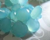 Shop Sale.. 3 pcs, Aqua Chalcedony Heart Briolettes Beads, Luxe AAA, 10.5-12 mm, Aqua Blue Gemstone, Faceted, Large, true 1012