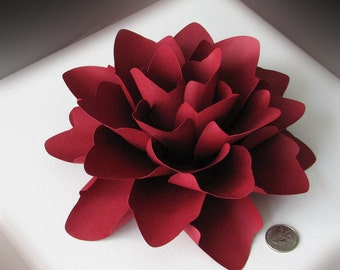 Paper flower Extra Extra Large for gifts, weddings or placesetting ANY COLOUR