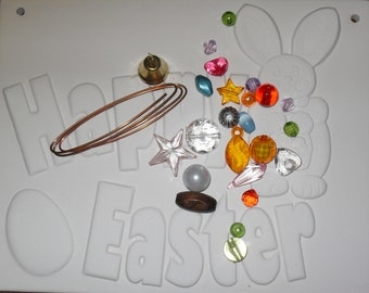Paint Your Own Bisque Easter Bunny Plaque Happy Easter