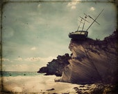 Pirate Ship Art Beach Photography Nautical Tall Ship Shipwreck Bahamas Tropical Dreamscape Canadian Fine Art Photo - The Edge of the World