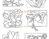 Flower Windows Clear Polymer Stamp Collection