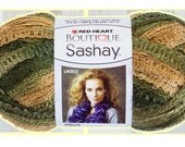 Yarn craft supplies  knitting Sashay Boutique  Red Heart yarn knitting scarf fishnet color CONGA