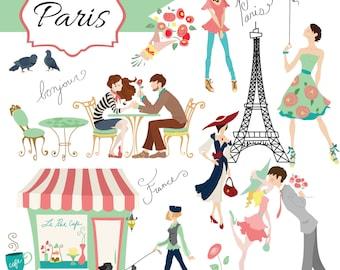 Instant Download - Paris: Digital Clipart Set