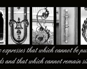 MUSIC  Plaque black & white letter art